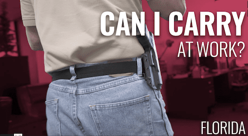 Florida concealed carry at work