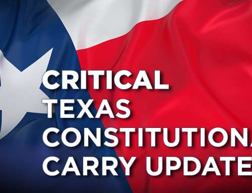 Critical Texas Constitutional Carry Update